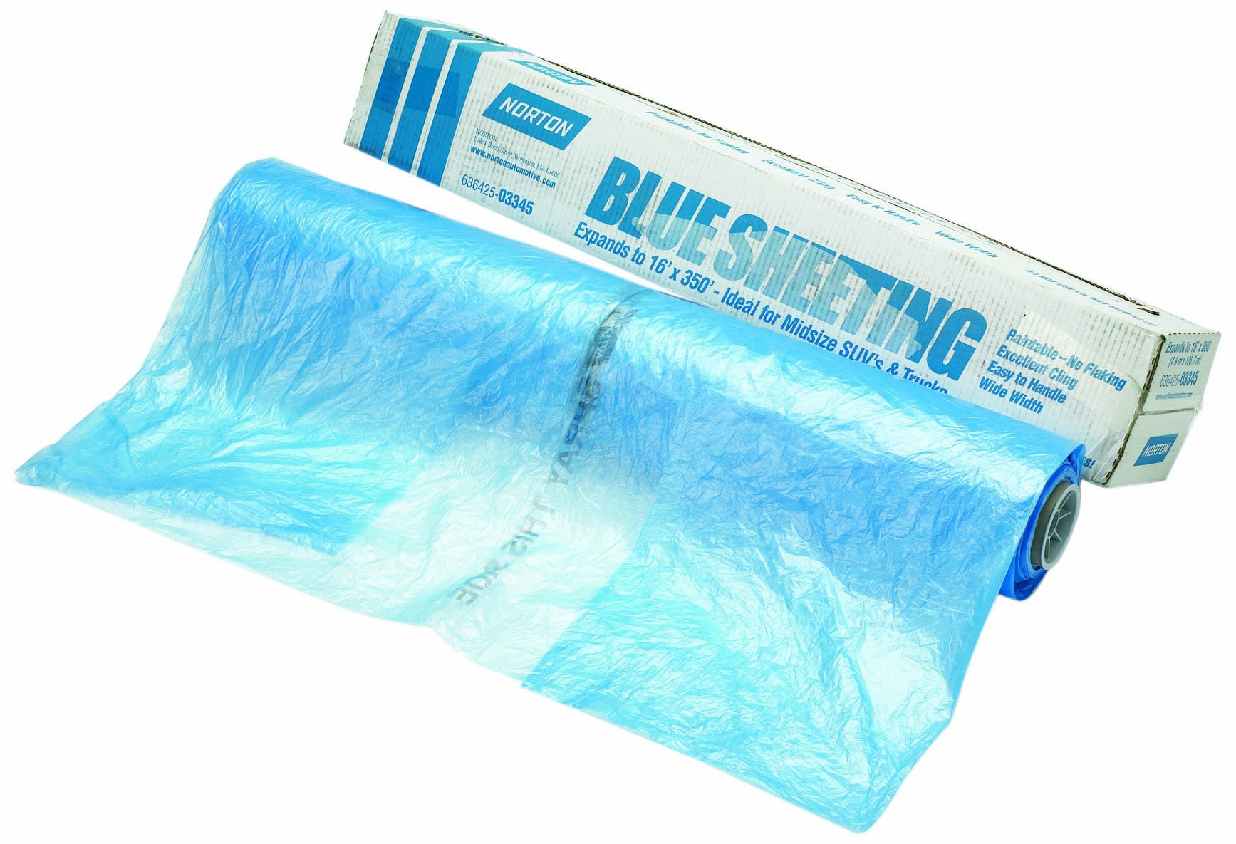 Norton 636425-03345 Blue 16' x 350' Sheeting