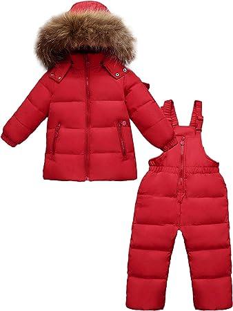CARETOO Kinder M/ädchen Junge S/ü/ß Winter Warm Daunenjacke Verdickte Winterjacke mit Kapuze K/älteschutz Windschutz Schneeanz/üge