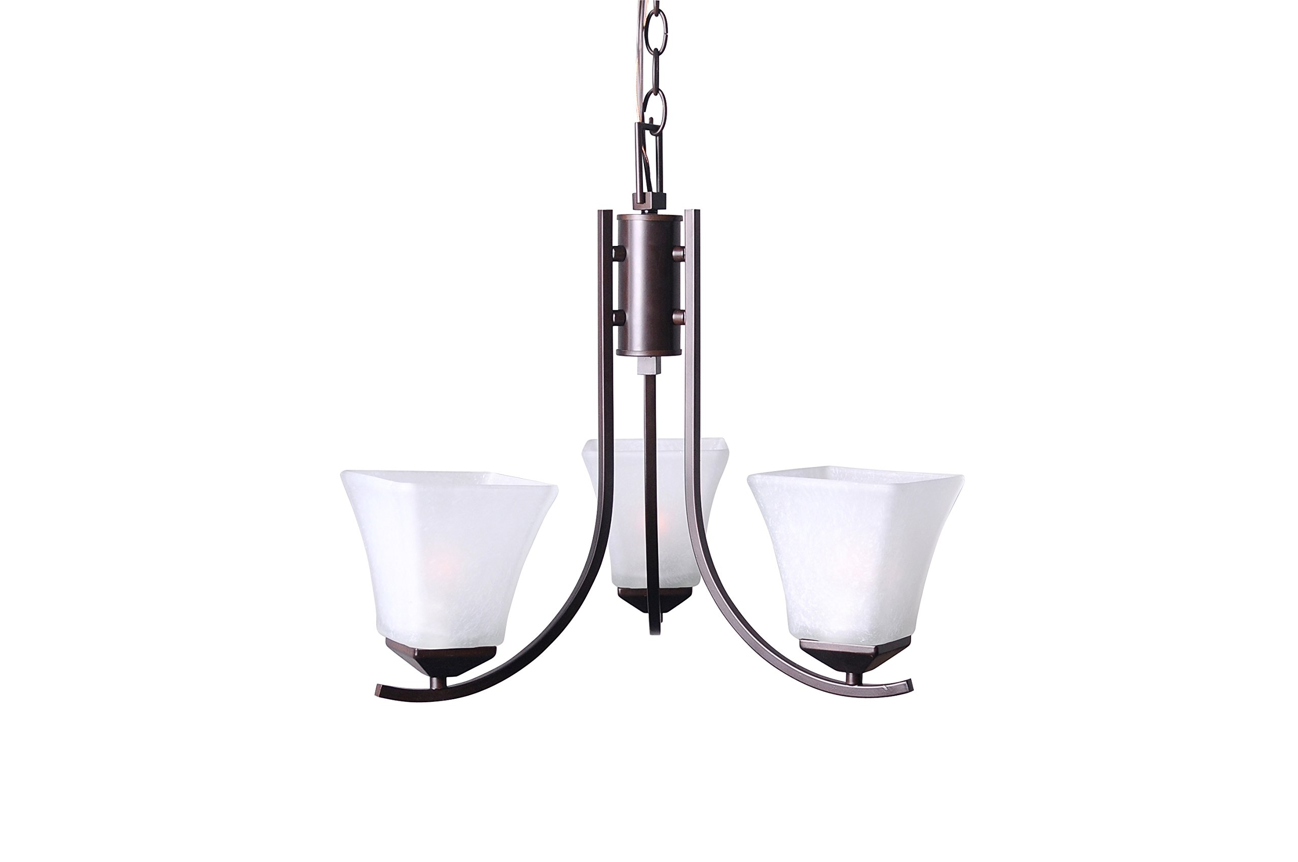 Design House 577361 Torino 3 Light Chandelier, Brushed Bronze by Design House