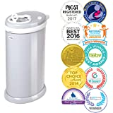 Ubbi Money Saving, No Special Bag Required, Steel Odor Locking Diaper Pail, Gray