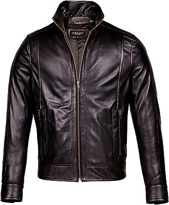 Corbani Womens Mnimalist Black Lambskin Real Leather Jacket