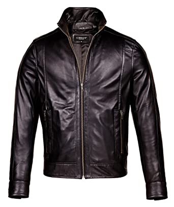 Mens Black Leather Motorcycle Jacket - Mens Designer Leather ...