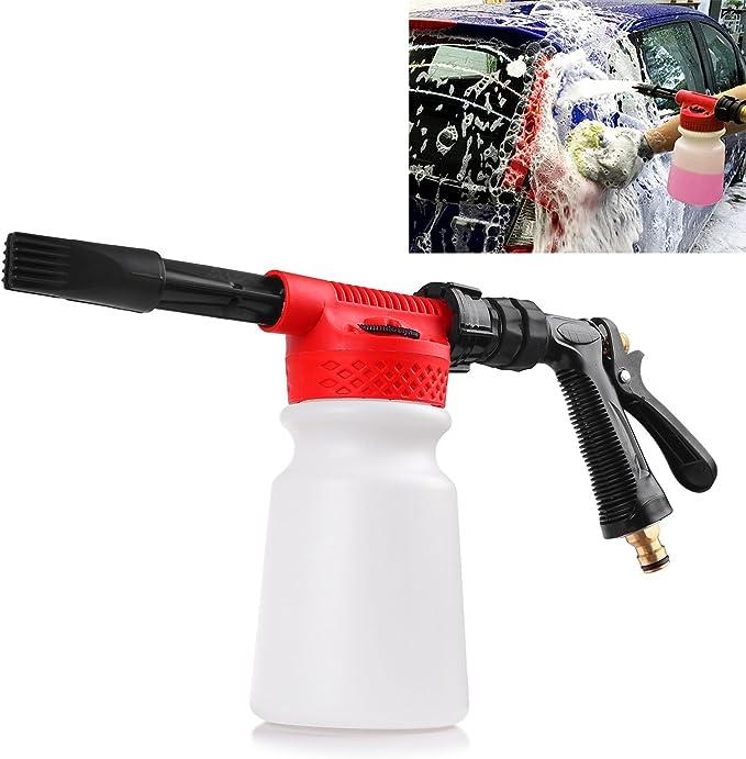Aozbz Auto Cleaning Foam Gun Schaumkanone Snow Foam Lance Auto Waschen Sprayer Wasser Seife Foamaster Schaumstoff Lanze 900 Ml Baumarkt