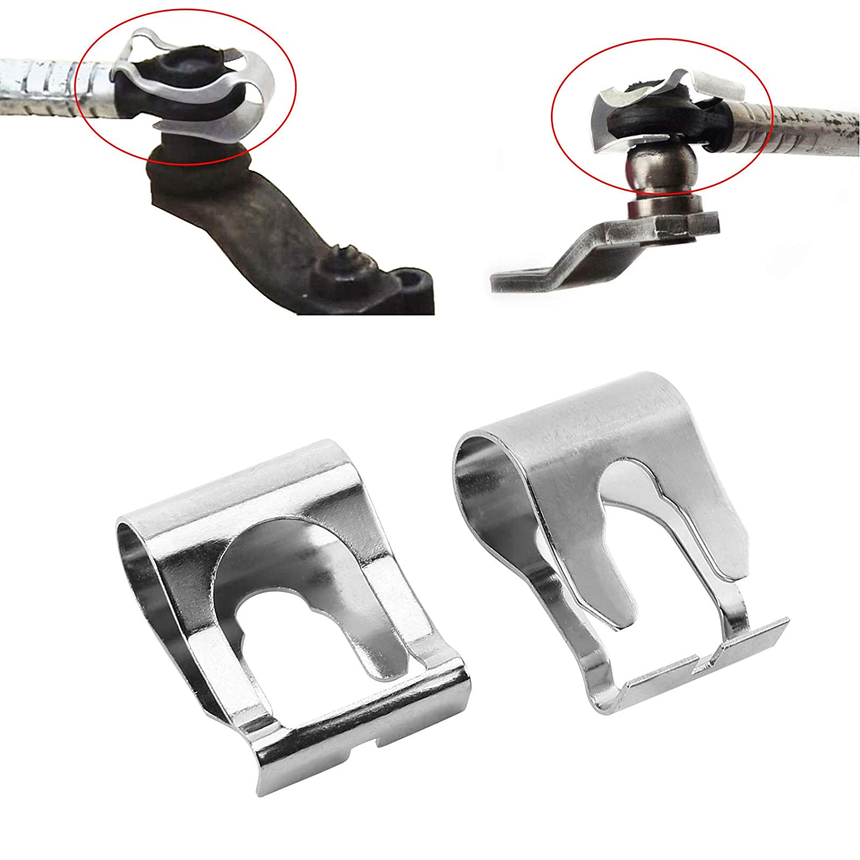 Anladia 4X Scheibenwischer Gestaenge Reparatur Klammer Kit Stabilisatorkoppelstange Clip