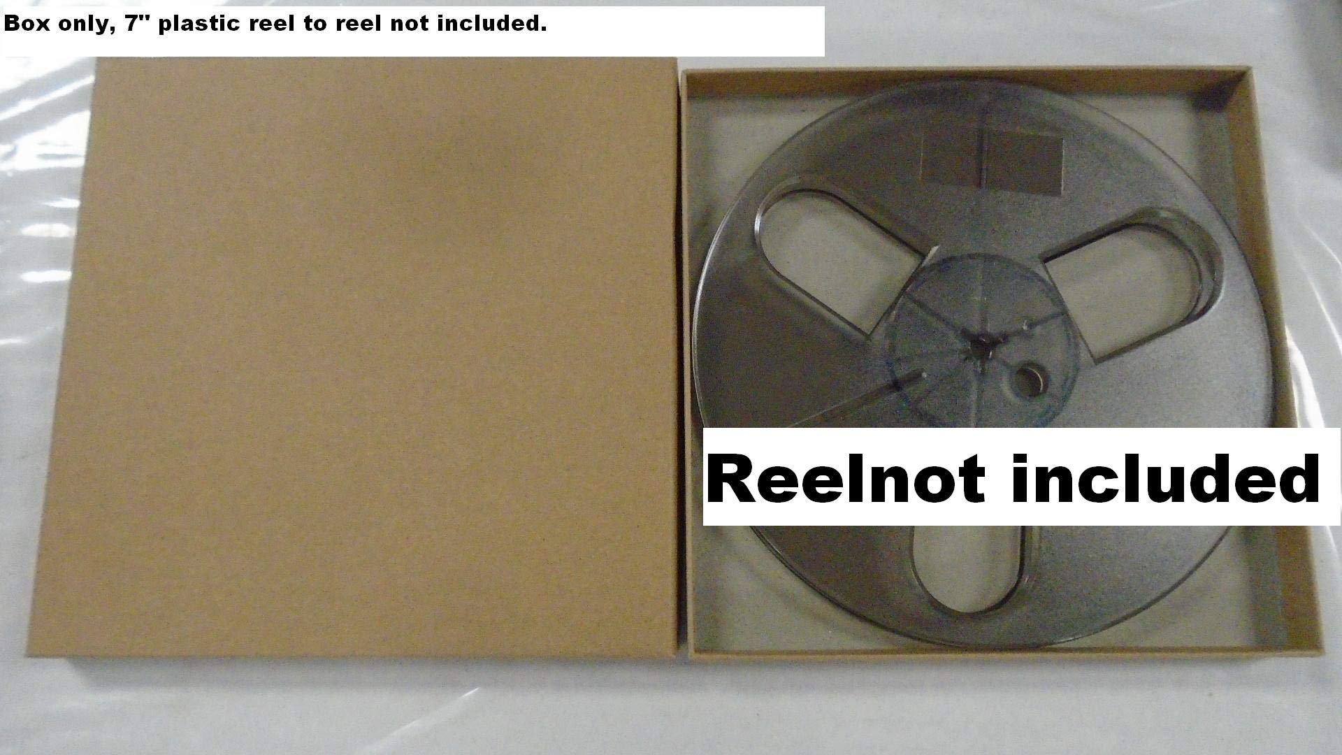 Empty Acid Free Archival Box Only! for 7'' x 1/4'' Take Up Reel to Reel Small Hub