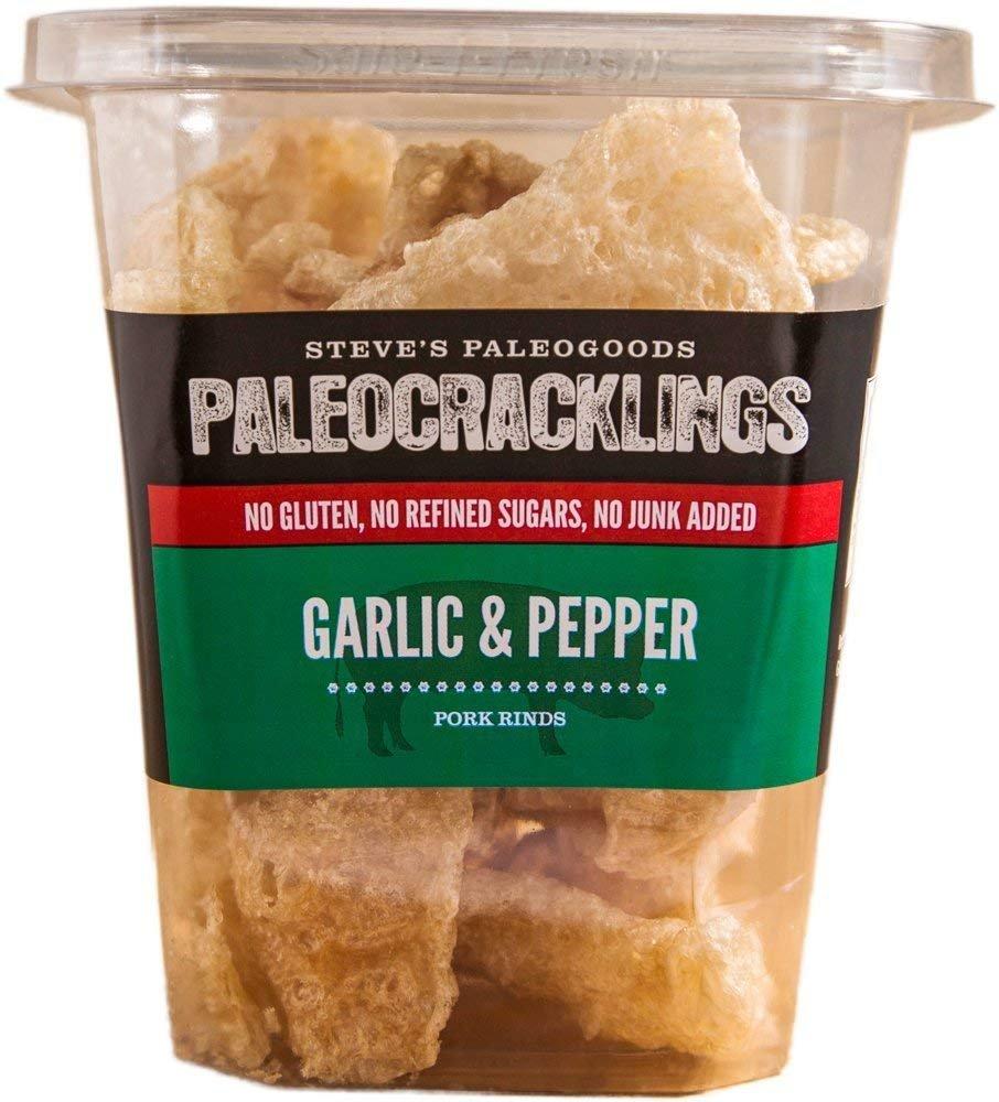Steve's PaleoGoods, PaleoCracklings Garlic and Pepper, 1.75 oz (Pack of 3)
