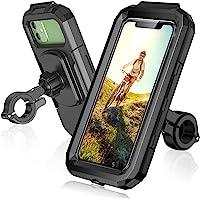 ENONEO Fiets Telefoonhouder Waterdicht 360 ° Rotatie Mobiele Telefoonhouder voor Fiets Scooter Motorfiets Telefoon Mount…