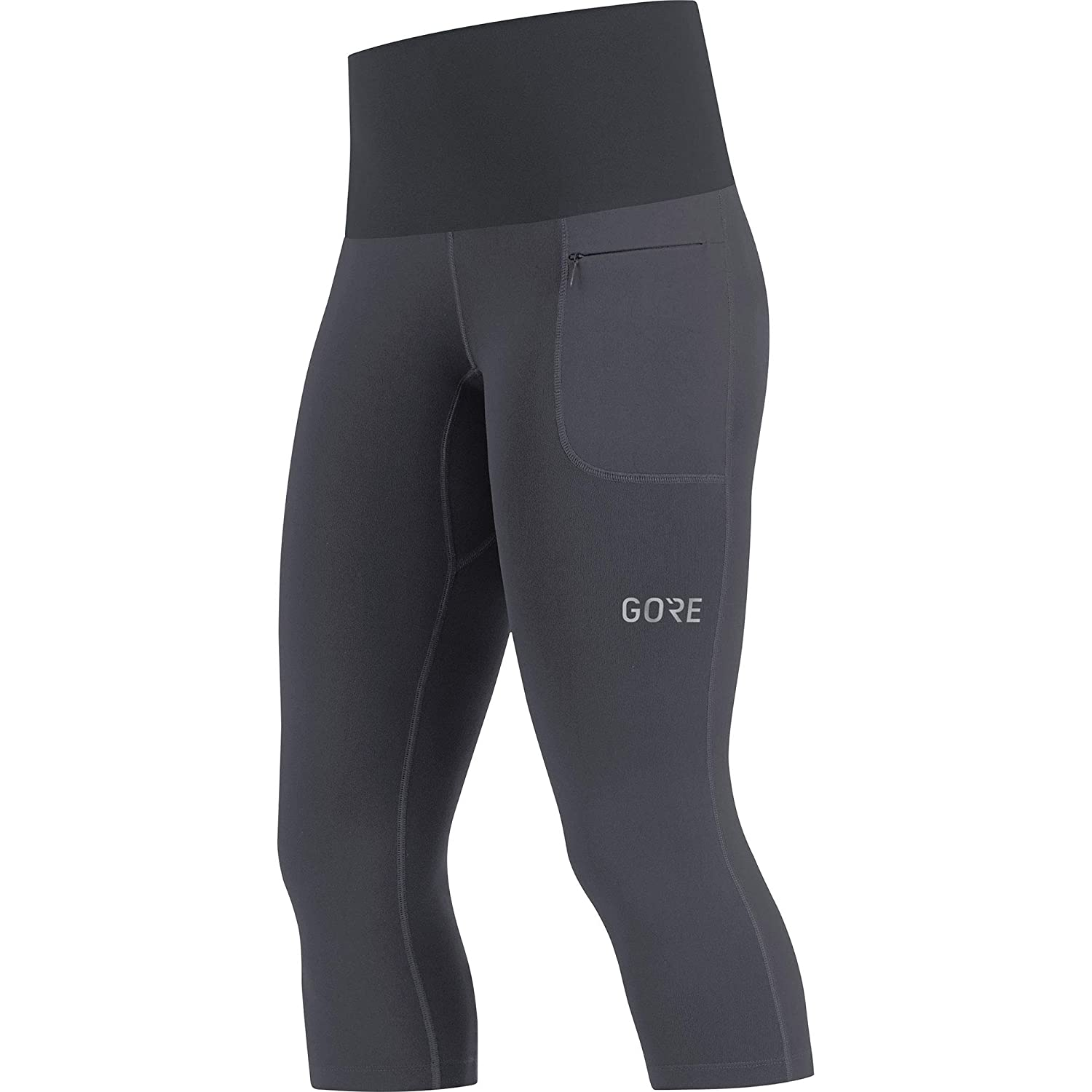 GORE Wear Women's Breathable 3/4-Length Running Tights, GORE Wear R5 Women 3/4 Tights, 100007 Gore Bike Wear