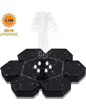 GOOJODOQ Bomba de Fuente Solar (Mejorada), 2.4W Polygon Garden Bomba de Agua