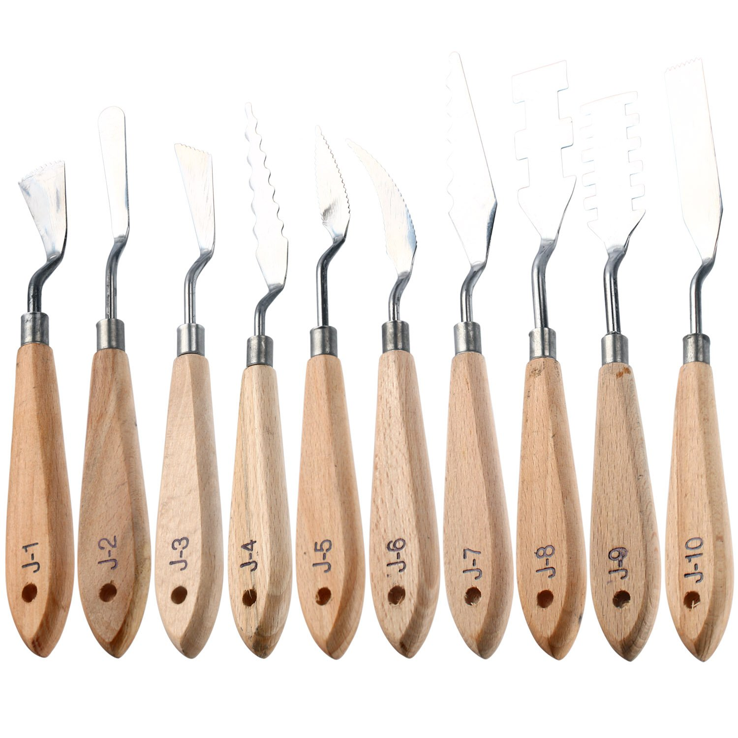 Homend Oil Paint Knives for Artists, 10 Pcs Stainless Steel Painting Knife Set Within Thin and Flexible Spatulas Art Tools for Oil Painting Acrylic Mixing