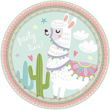 8 Platos de Fiesta * Llama * para cumpleaños Infantiles y ...