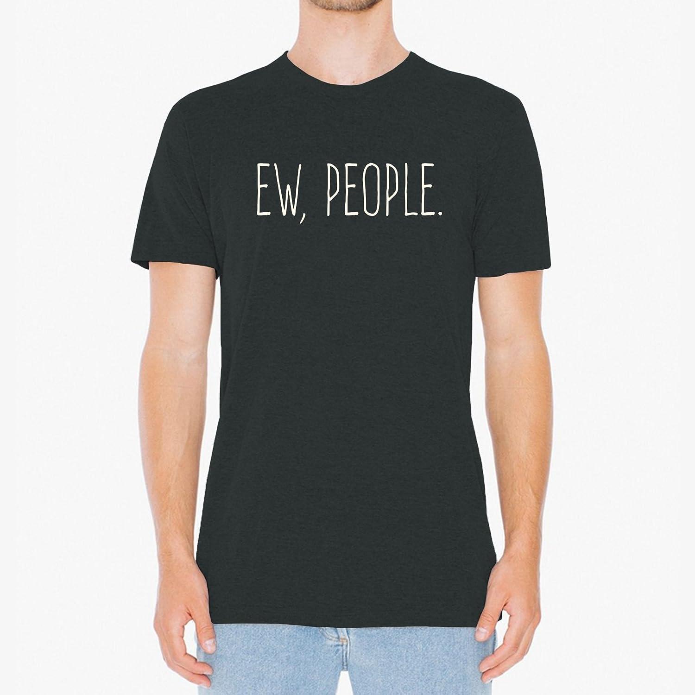 40ab50af Amazon.com: UGP Campus Apparel Ew People Funny Basic Cotton T-Shirt:  Clothing