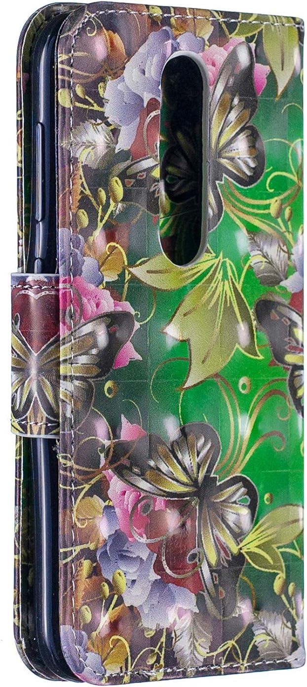 LOBFE120189 L9 Housse en Cuir Portefeuille avec Porte Carte Fermeture par Rabat Aimant/é Anti Choc Etui de Protection pour Nokia4.2 Lomogo Coque Nokia 4.2