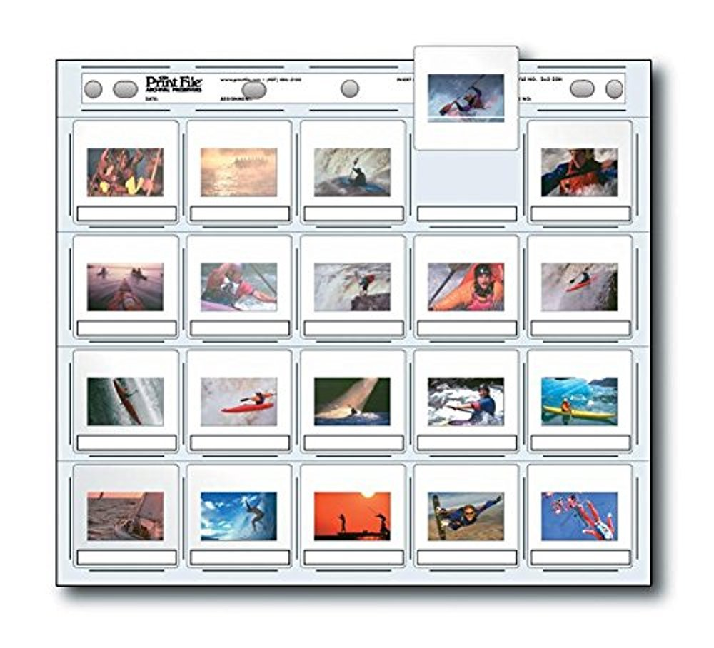 Printfile Archival Preservers Holds 20 35mm Slides 25 Pack - Printfile 2X220H25 by Print File