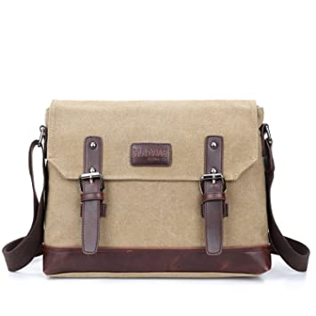 5361a063afb Outreo Vintage Shoulder Bag for School Bookbag Men Messenger Bag Canvas  Crossbody Cross Body Bag Retro