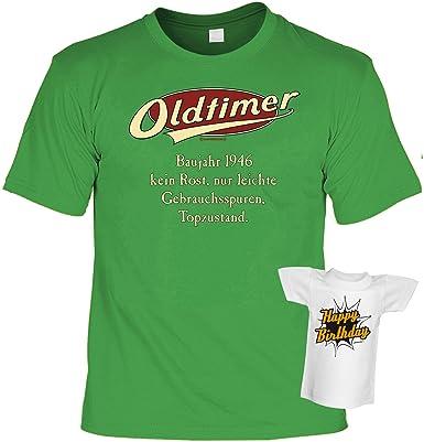 super und lustiges Jahrgangs-T-Shirt: Oldtimer Baujahr 1946 Farbe: hellgrün