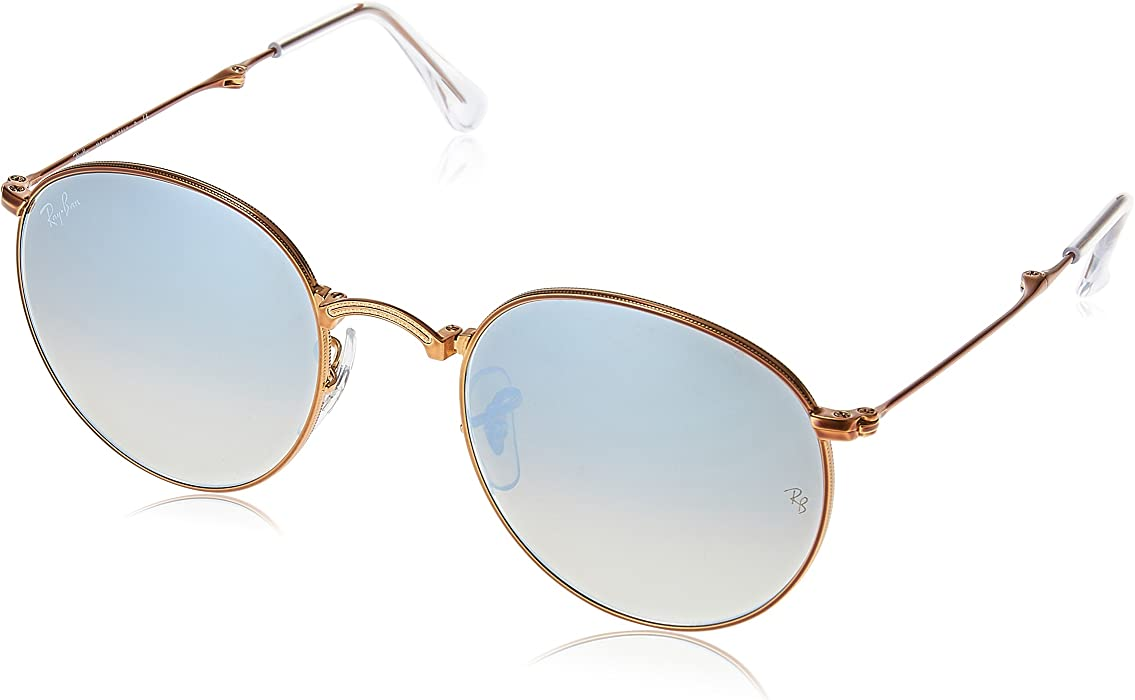 5f868e2b47 Ray-Ban Metal Man Sunglasses - Shiny Bronze Frame Grey Flash Gradient  Lenses 47mm Non
