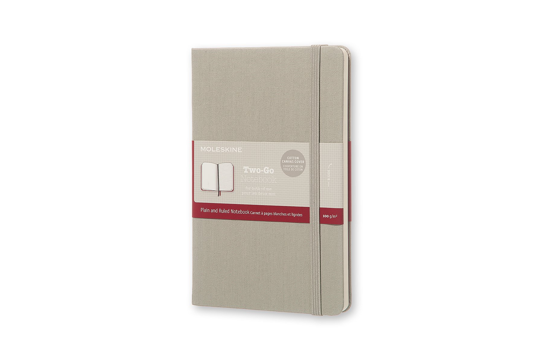 Moleskine Two-Go Hard Cover Notebook, Mixed (Ruled-Pl (QW46)