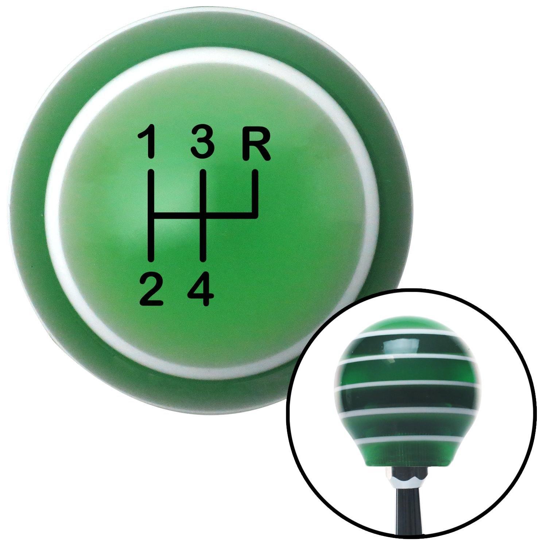 Black Shift Pattern 7n American Shifter 127382 Green Stripe Shift Knob with M16 x 1.5 Insert