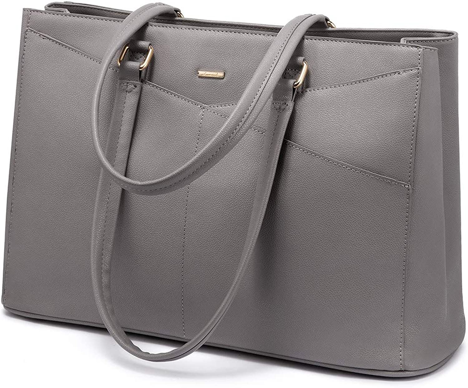 Laptop Tote Bag for Women 15.6 Inch Waterproof Leather Computer Bags Women Business Office Work Bag Briefcase