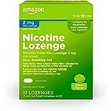 Amazon Basic Care Mini Nicotine Polacrilex Lozenge, 2 mg (nicotine), Stop Smoking Aid, Citrus Flavor; quit smoking with citru