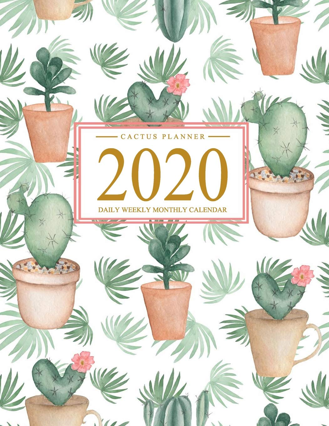 Cactus Cup 2020.Amazon Com Cactus Planner 2020 Daily Weekly Monthly