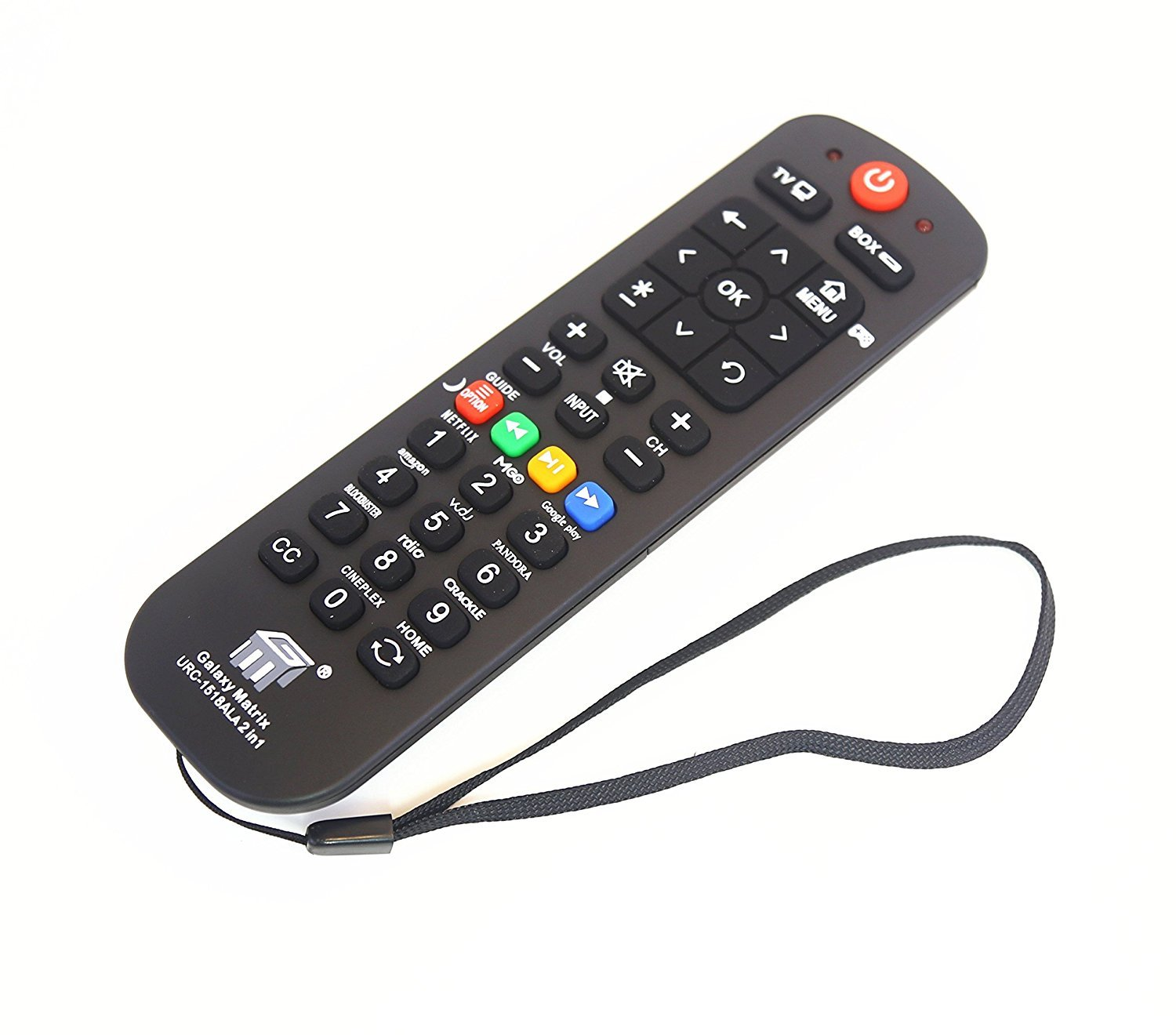 Brainly Universal Streaming Remote Work (2 in 1) for Main TV Main Streaming Box, Roku 1 2 3, Apple Tv, Vizio Smart TV,(URC1518) by Brainly (Image #3)
