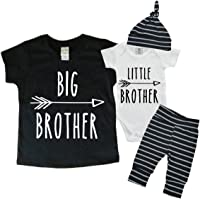 Youngsteropolis - Big Brother Little Brother Set - Matching Big Brother Little Brother Set 0-3Mo Bodysuit & 4T Shirt