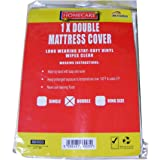 Double Vinyl Plastic Fitted Mattress Bed Cover Sheet Protector by BedWettingSheets