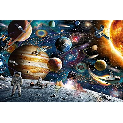 1000Pcs Jigsaw Puzzles for Adults Children's Puzzle Toy, Decompressing Fun Game/Educational Intellectual DIY Collectibles Modern Home Decoration- Free Sky Series (Space): Toys & Games