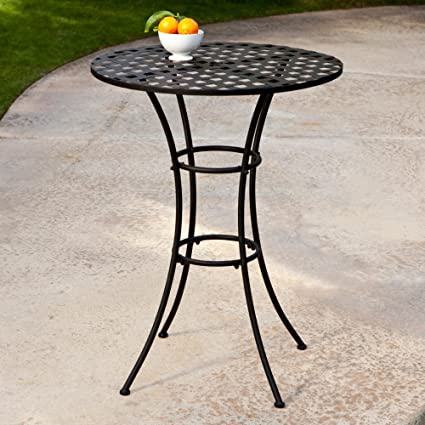 Belham Living Capri Wrought Iron Bar Height Bistro Table by Woodard  sc 1 st  Amazon.com & Amazon.com: Belham Living Capri Wrought Iron Bar Height Bistro Table ...