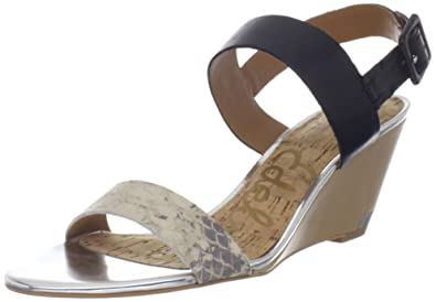 6ac384c0b5f0d Image Unavailable. Image not available for. Colour  Sam Edelman Sutton  Womens Black Leather Wedge ...
