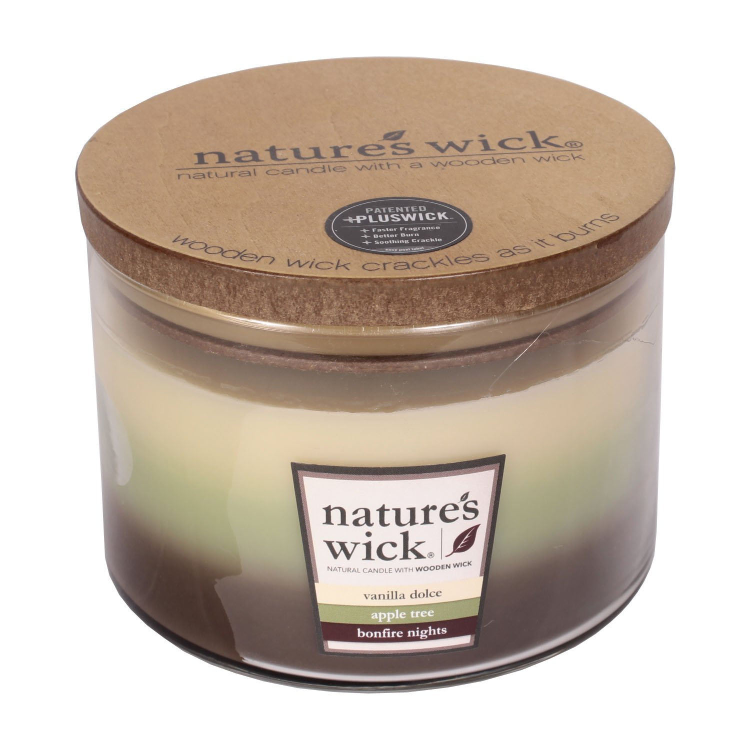Nature's Wick Vanilla Dolce/Apple Tree/Bonfire Nights (18 oz)