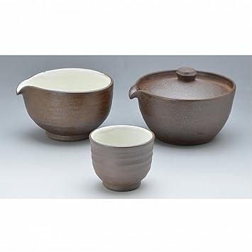 Kiyomizu-kyo yaki Ware. Taza japonesa Sencha de kyusu y tazas Yakishime con caja de papel. Cerámica. kymz-JYM034: Amazon.es: Hogar
