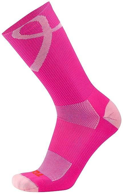 TCK Sports Breast Cancer Awareness Pink Ribbon Crew Socks