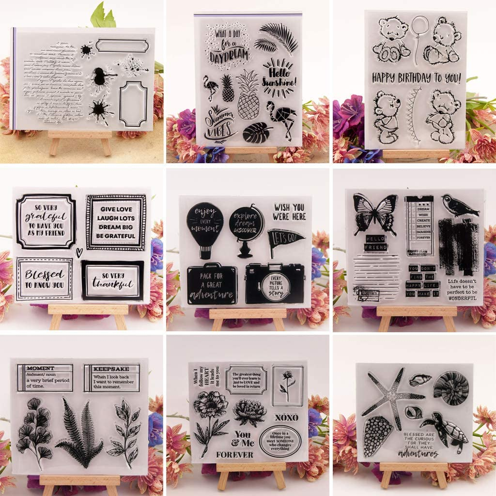 Smaersty Words DIY Silicone Clear Stamp Seal Scrapbook Embossing Album Decor Craft