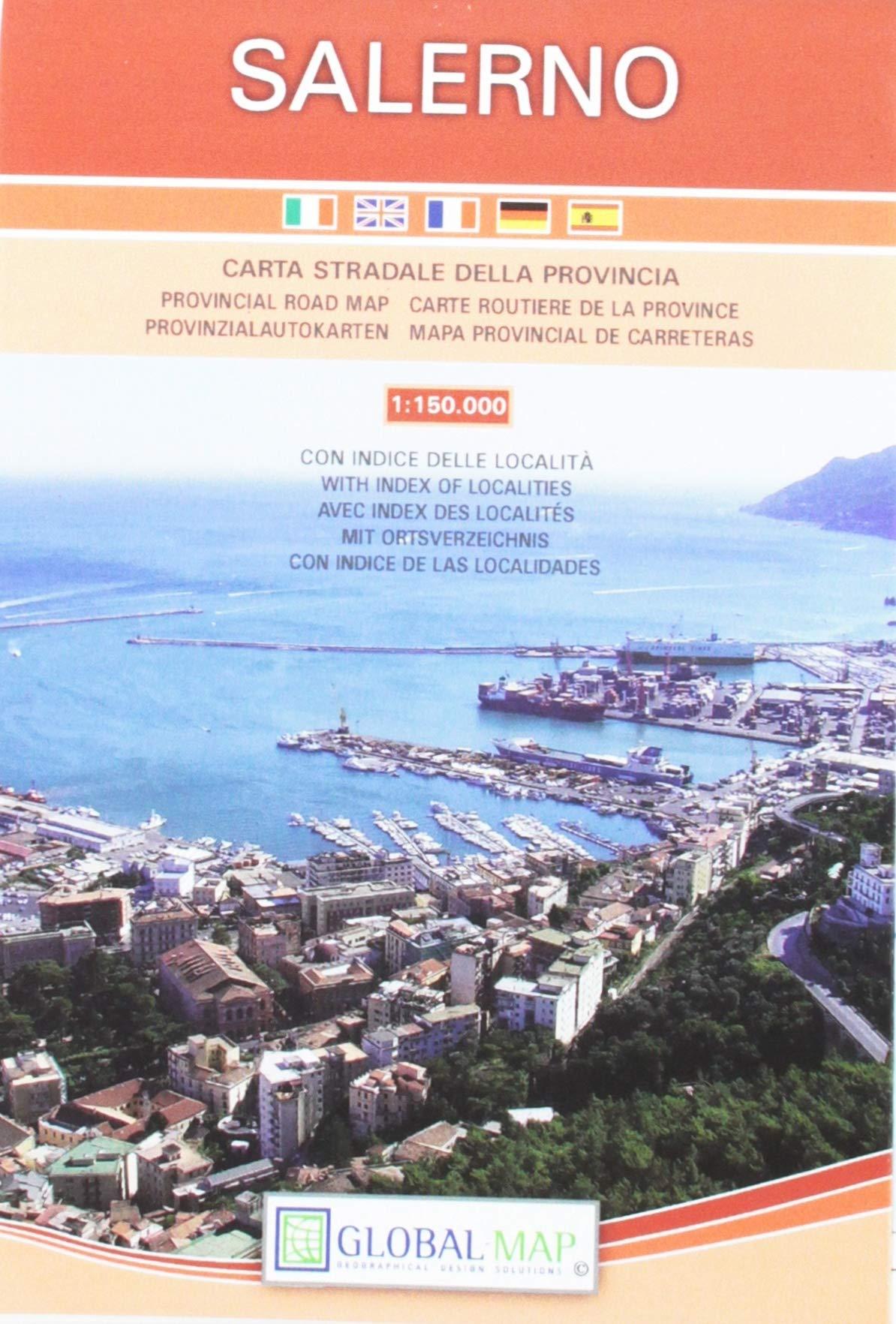 Salerno Italy Provincial Road Map Carta Stradale Della