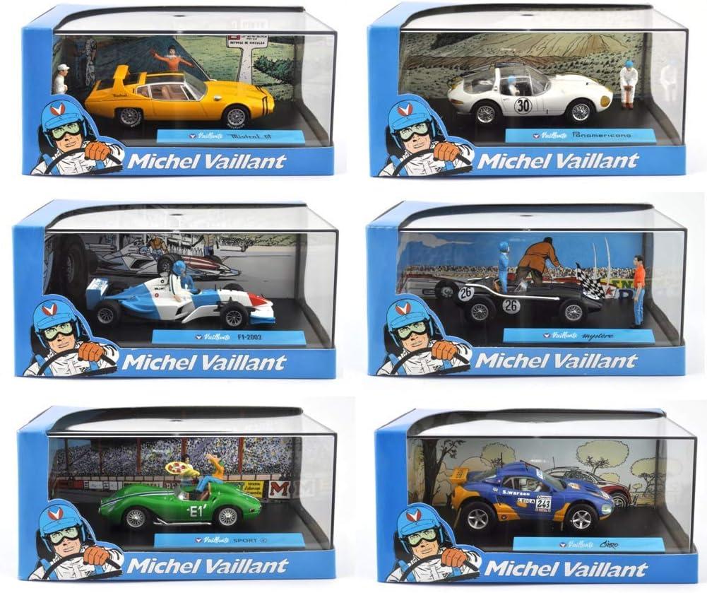 Los mit 6 Michel Vaillant Rennwagen OPO 10 Ref: LV2 IXO 1//43 Collection