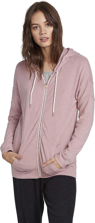 Volcom Juniors Womens Lil Zip Up Hooded Fleece