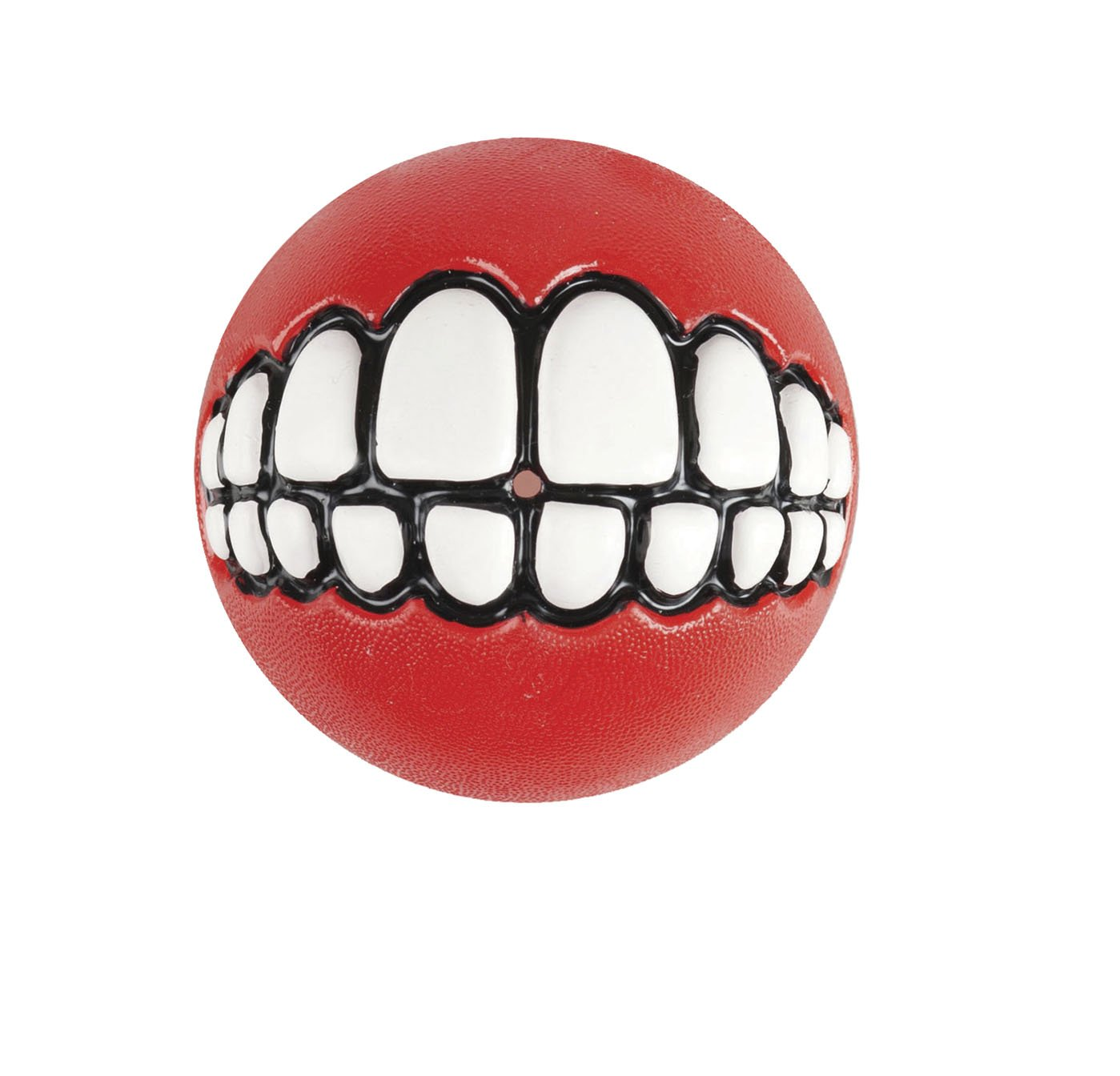 Red Rogz Grinz Small 2  Dog Ball Treat Toy, Red