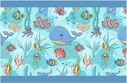 dekodino Kinderzimmer Bord/üre Borte Delfine Tiermotiv Unterwasserwelt selbstklebend
