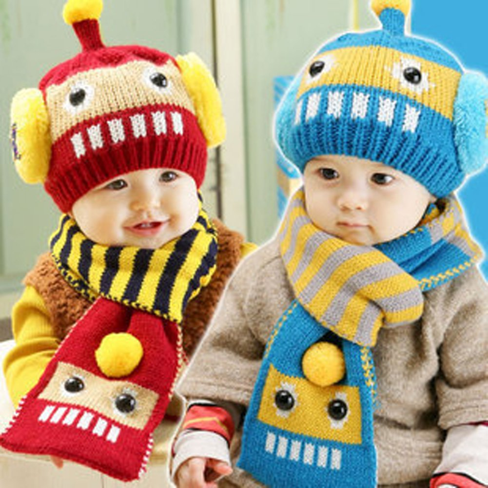 Scarf Yonger Winter Infant Baby Toddler Kid Hat Knitted Beanie Cap