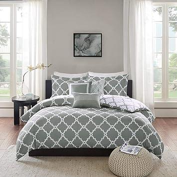 6 Stuck Grau Weiss Color Bettbezug Set Schone Geometrische Muster