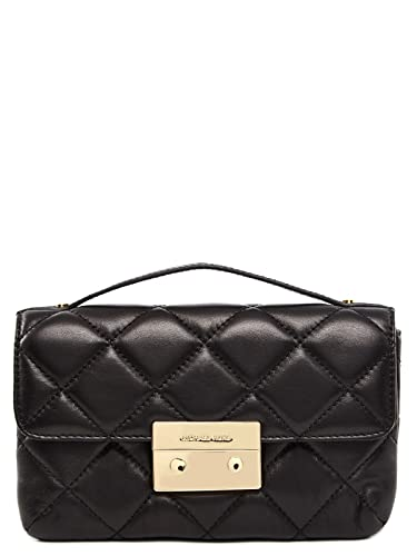 dfd7c24415c3 Amazon.com  Michael Kors Sloan Small Quilted Messenger Black Leather  Shoes