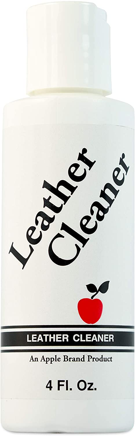 Apple Brand Leather Cleaner 4 oz | Great for Shoes, Boots, Handbags, Car Upholstery, Furniture- Removes Surface Dirt, Grime, Salt and More From Finished Leathers