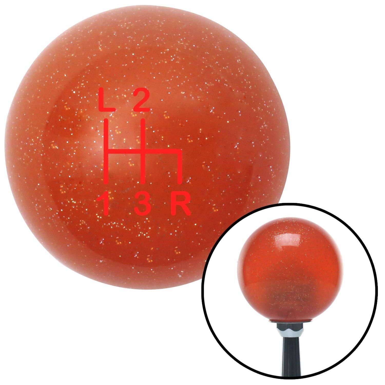 American Shifter 81647 Orange Metal Flake Shift Knob with M16 x 1.5 Insert Red Shift Pattern 52n