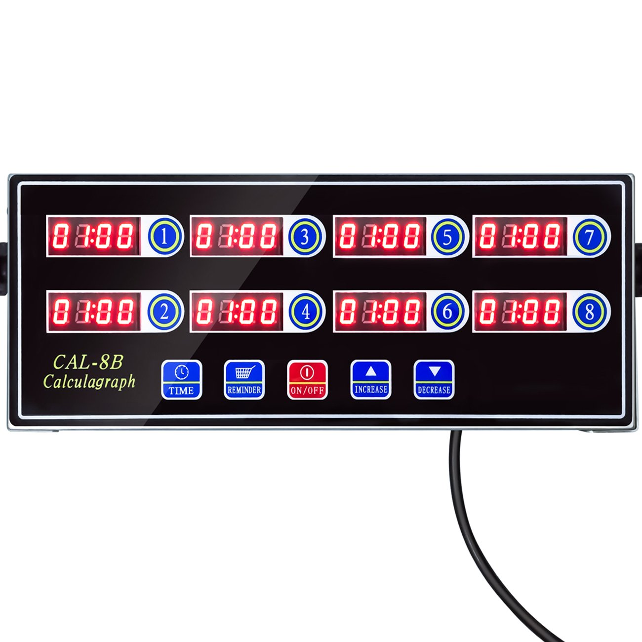 YOOYIST Home 8 Channels Digital Kitchen Timer Reminder Burger Cooking Timming Loud Alarm Stainless Steel LED Display For Commercial Restaurant