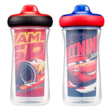 Disney/Pixar Cars Insulated Hard Spout Sippy Cups 9 Oz, 2pk | Scan with  Free Share the Smiles App