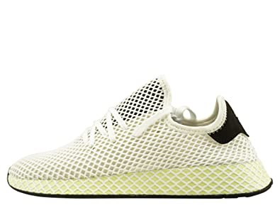 timeless design dd6ce 2a9f7 adidas Originals Deerupt Runner, Chalk White-Core Black-Core Black, 7