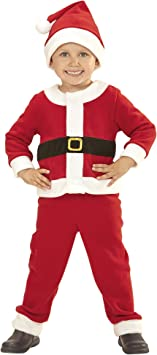 WIDMANN Papá Noel niño Disfraz de 110 cm Padre Papá Noel ...